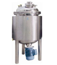 stainless steel prepration vessel with homoginizer
