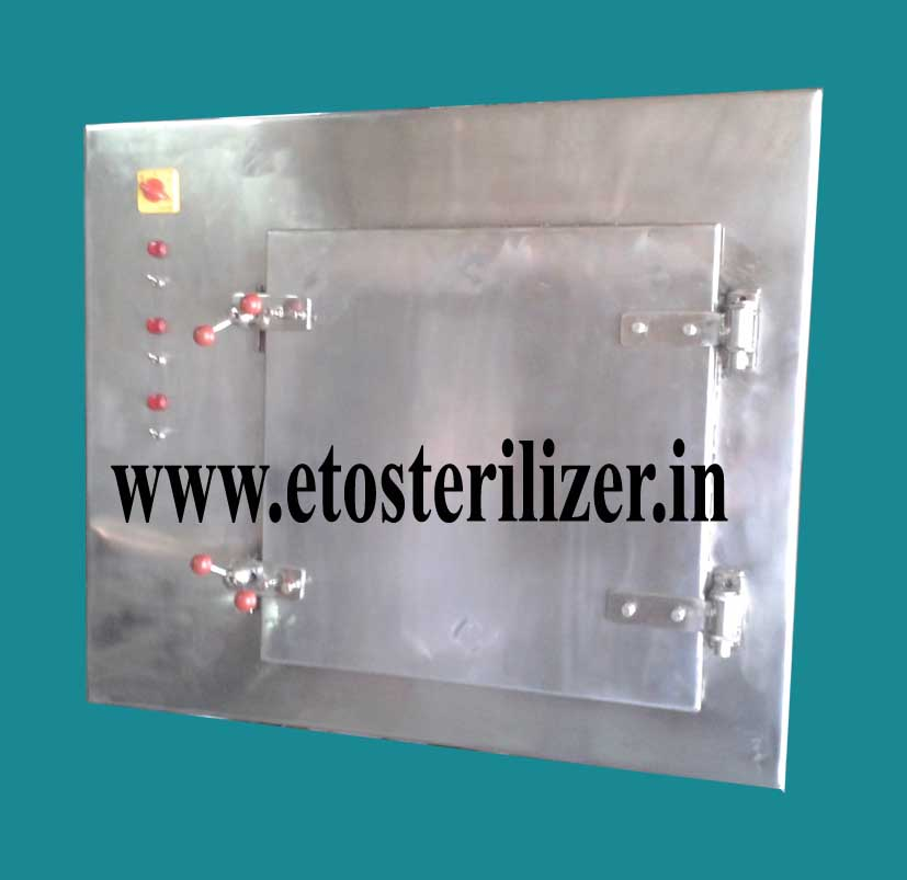 ethylene oxide gas sterilizer, e.t.o sterilizer, eto sterilizer, eto sterilizer for catheter, syringes, eto sterilizer delhi, UP, Hyderabad, Tamilnadu, eto sterilizer for surgical latex gloves